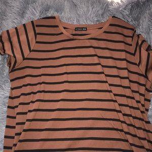 T shirt dress! Burnt orange and black stripped!